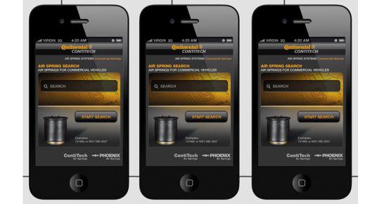 Die ContiTech Web-App für das Ersatzgeschäft kann durch das Scannen des entsprechenden QR-Codes auf Informationsbroschüren direkt auf das Smartphone geladen werden.