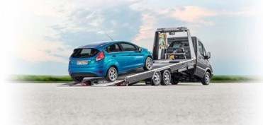 Mercedes Blitzlader gekippt mit Fiesta von hinten Mod  2013 9741 neu
