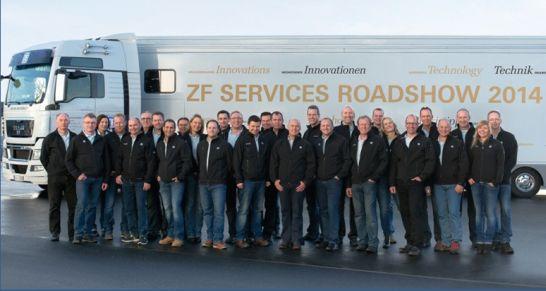 Start frei für die ZF Services Roadshow 2014: Von April bis September tourt der Aftermarket-Spezialist durch ganz Deutschland, um sein Expertenwissen mit Werkstattmitarbeitern zu teilen.