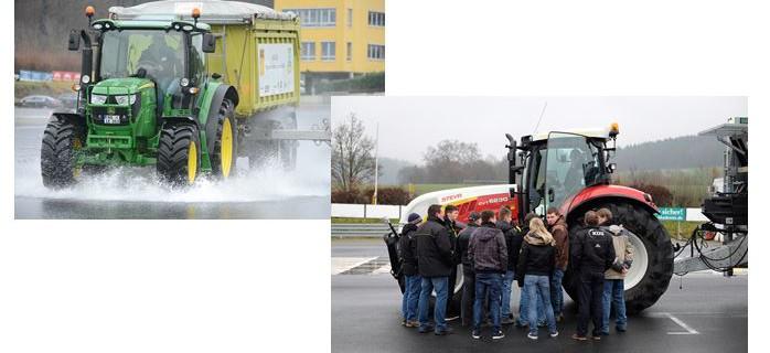 KÜS Fahrtraining für landwirtschaftliche Fahreuge