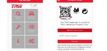 Teilefinder-App - TRW