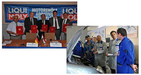 Mechanikerausbildung in Tadschikistan - LIQUI-MOLY