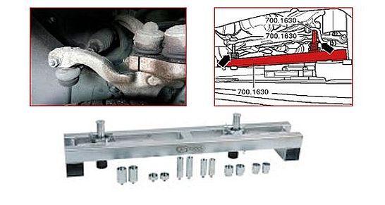 Vorspurkurve - VW-Fahrzeugen - KS Tools-
