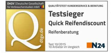 quick reifendiscount testsieger