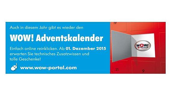 Grafik Adventskalender Tür offen - WOW