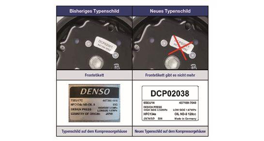 denso kompressor typenschild für den aftermarket